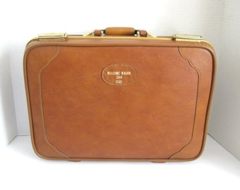 Vintage Naugahyde or Faux Leather Briefcase Welcome Wagon 200 Club