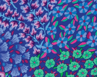 Kaffe Fassett Persian Garden Blue Fabric 1 yard
