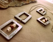 Framed Necklace and Earrings Set