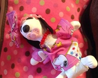 """Polymer Clay Belle Cloth Body Doll 6-7"""""""