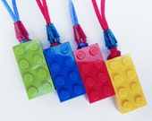 20 LEGO Party Favor Necklaces ~ Made from REAL LEGOS ~ Great for a birthday party, decorations, supplies, crafts, or favors!
