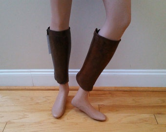Antique Leather WWI Era US Army Leather Gaiters