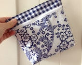 Zip it Unlined Oilcloth Pouch