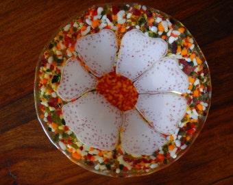 Fused Glass Bowl, Confetti