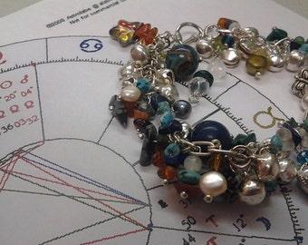 Custom Astrological Bracelet - Gemstone Crystal One-Of-A-Kind