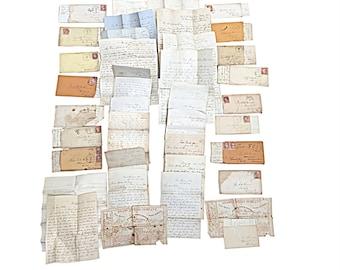 Civil War Letter Collection Spanning 1861-1865, 44 Letters, Antique Military Ephemera