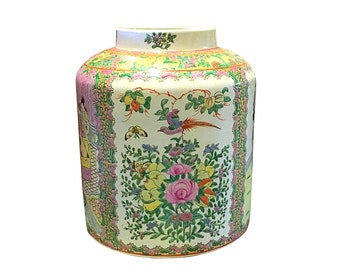 Huge Chinese Jar, Antique Asian Decor, Vintage Bohemian Home Style