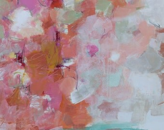 """MODERN ABSTRACT PAINTING """"Simple Things"""" Acrylic on 30""""W x 40"""" x 1.5"""" canvas Original Art Direct from Studio by Elizabeth Chapman"""