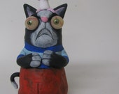 lowbrow one of a kind figure kitty cat monster by mealy monster land