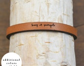 keep it simple - adjustable leather bracelet  (additional colors available)