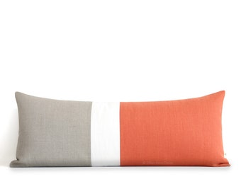 Extra Long Decorative Lumbar Pillow : Rectangle bolster Etsy