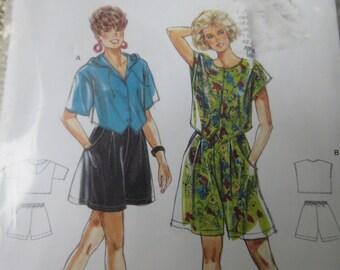Super EASY Burda Sewing Pattern 8 10 12 14 16 18 High Waist shorts  Split Skirt Cropped Top Hood Blouse Sealed UNCUT Factory folds