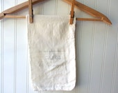 Vintage 5 pound feedsack flour sack sugar sack with applied antique French grocer coffee ad graphic French Farmhouse cottage