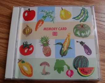 Janome Memory Card # 13 ---Fruit and Vegetable Series