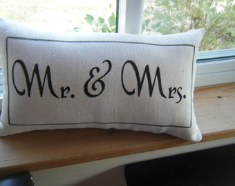 Autograph Pillow - for Wedding Shower, Buck and Doe etc. Mr & Mrs, Mrs  Mrs, Mr.  Mr.