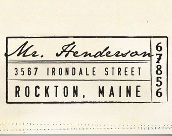 Address Stamp, Custom Address Stamp, Self Inking Address Stamp, Personalized Gift, Housewarming Gift, Wedding Gift, Bridal Gift - 1037
