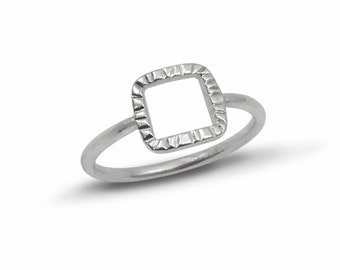 Square Front Ring
