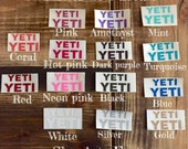 GLITTER YETI decal set (Lid and cup decals) QUICK ship!