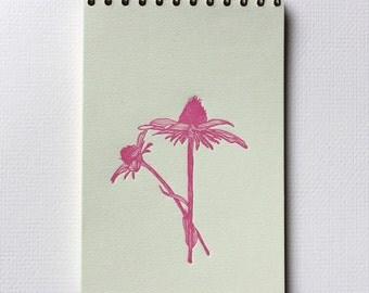 Cone Flower Notebook - Letterpress Spiral Bound Notebooks
