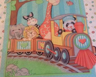 Bazoole Train ride quilt