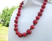 Red Cinnabar Necklace
