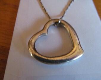 Big open heart pendent