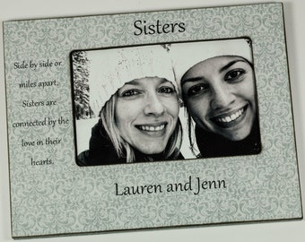 Personalized Sisters Frame, Best friend frame 4x6 / 5x7