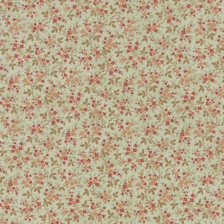 Quilting Cotton Fabric 3 Sisters Larkspur Mist Vines