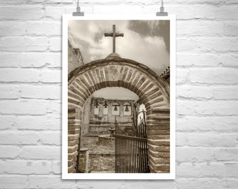 San Juan Capistrano, Mission Photo, California Missions, Church Photograph, Spanish Missions, Church Art, Wall Print, Vertical Art, Serra