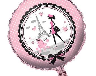 1 ~ Paris Theme Balloon, Paris Theme Party, Eiffel Tower, Paris Decorations, Pink Balloons, Foil Balloon, Party Balloons
