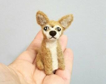 Chihuahua ornament, Custom dog ornament, Needle felted dog, Dog memorial, Dog art, Chihuahua memorial, Dog figurine, Dog lover gift