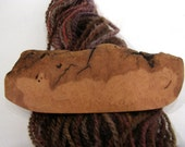 Large Wood Hair Barrette, Red Elm, wearable art, lifetime guarantee, NO GLUE, natural hair, long thick hair, french clip, wood anniversary