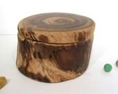 Smoke Bush Wooden Box, wood art, office desk organizer, wood jewelry box, eco gift box, wood anniversary gift, small pet urn,