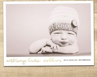baby boy birth announcement, hello handsome birth announcement, baby announcement, digital baby birth announcement, modern baby birth