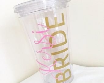 Wedding Tumblers, Personalized Tumblers, Bridesmaid Gifts