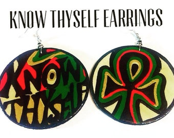 Know Thyself Life Earrings