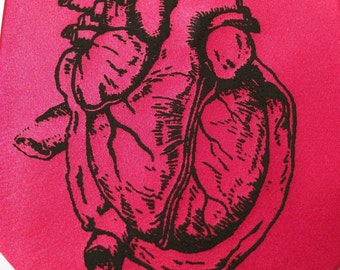 Necktie Microfiber Red RokGear Print Human Heart Anatomy Correct Valentine