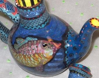 Teapot - Fanciful Fish Teapot