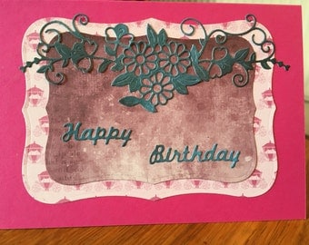 Recycled Happy Birthday blank card