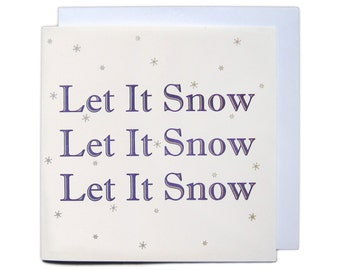 Letterpress Christmas Greetings Card - Let It Snow