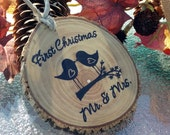 MR and MRS ORNAMENT First Christmas Married Ornament First Christmas Together Ornament  First Christmas as Mr and Mrs Ornament Wedding Gift