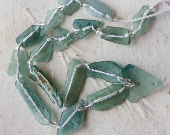sale .. ANCIENT ROMAN GLASS No. 124 .. Genuine Antique Roman Glass Fragment Beads (rg-124)