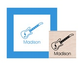 Electric Guitar Personalized Rubber Stamp