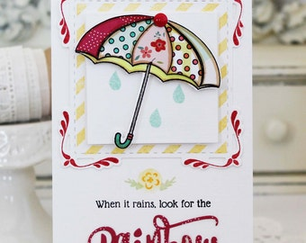 Look for the Rainbow...Handmade Card