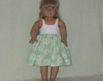 American Girl 18 inch Doll Dress Mint Daisy