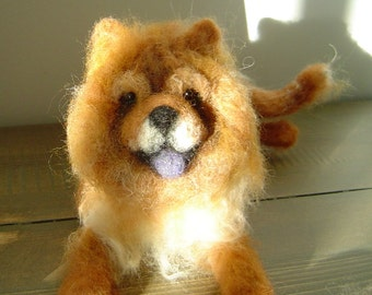 Custom Dog 3-D Sculpture Pet portrait needle felted Chow Chow or other breed