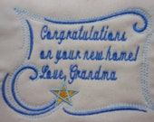 Star Whimsy Machine Embroidered Quilt Label Personalized