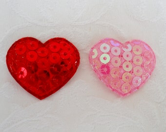 True Love Sequin Heart Valentine Dog Bow