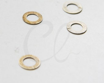 6pcs Antique Brass Flat OPENED Ring - Link - Loop 10x6mm (3029C-N-196)