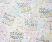 """Unicorn fabric Merry go round 50 cm by 106 cm or 19.6"""" by 41 inch half meter"""